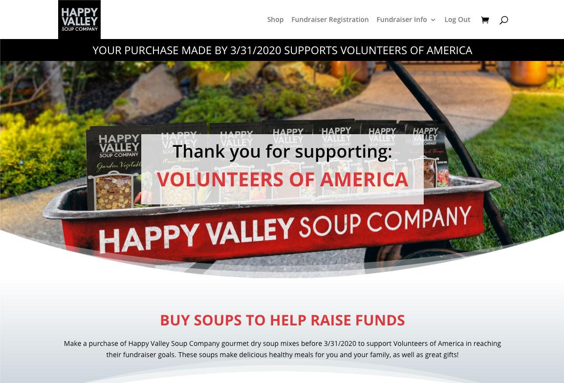 Volunteers of America Demo Fundraiser Page